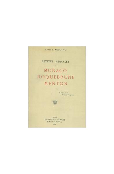 Petites Annales de Monaco Roquebrune Menton
