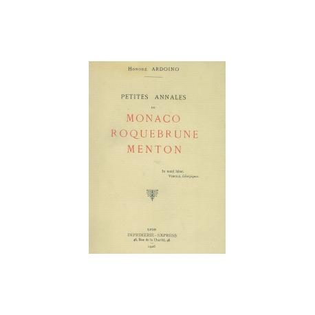 Petites Annales de Monaco Roquebrune Menton Recto
