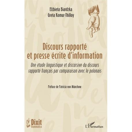 Discours rapporté et presse écrite d'information Recto