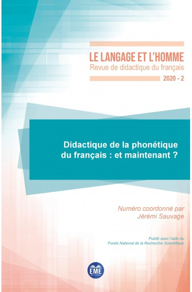 Didactique de la phonétique du français : et maintenant ?