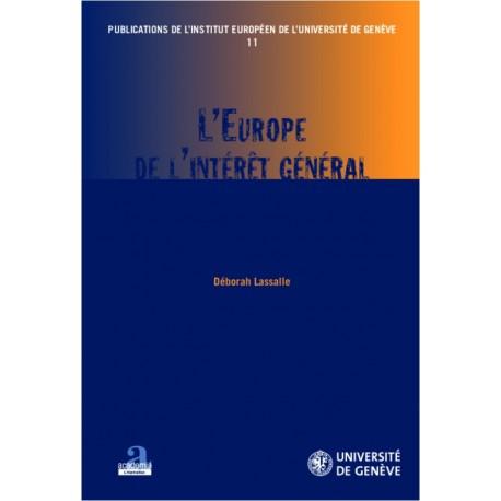 L'Europe de l'intérêt général Recto