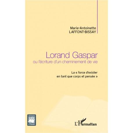 Lorand Gaspar ou l'écriture d'un cheminement de vie Recto