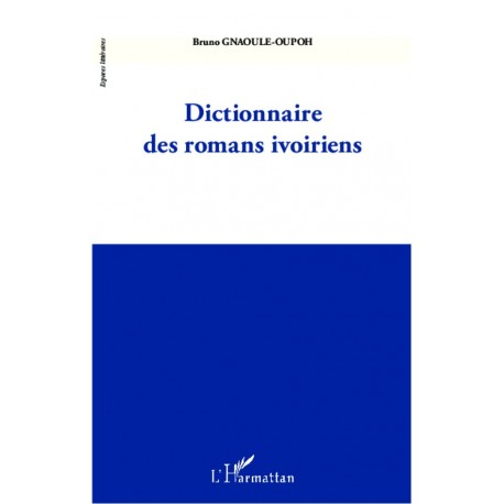 Dictionnaire des romans ivoiriens Recto