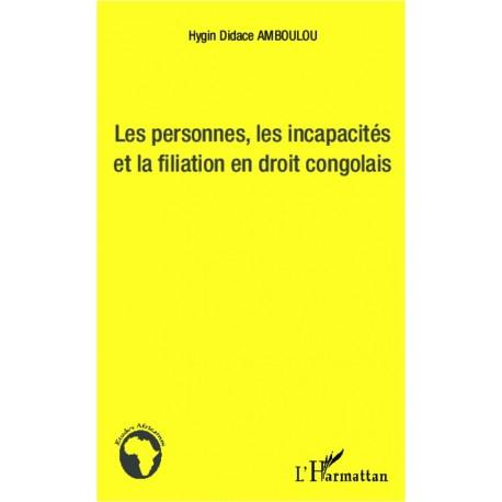 Les personnes, les incapacités et la fialiation en droit congolais Recto