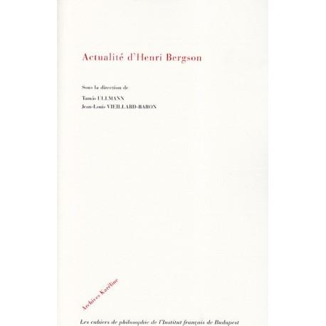 Actualité d'Henri Bergson Recto