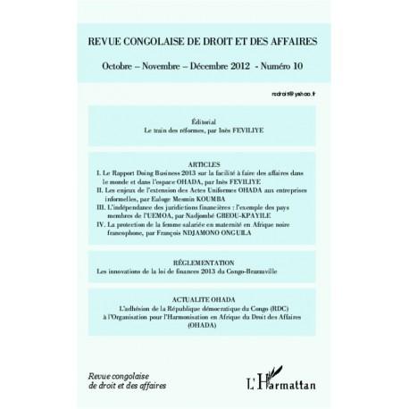 Revue congolaise de droit et des affaires Recto