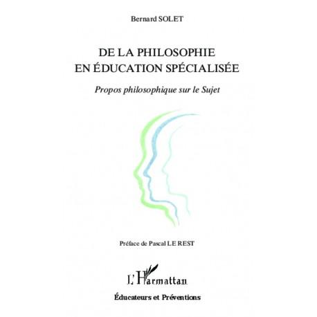 De la philosophie en éducation spécialisée Recto