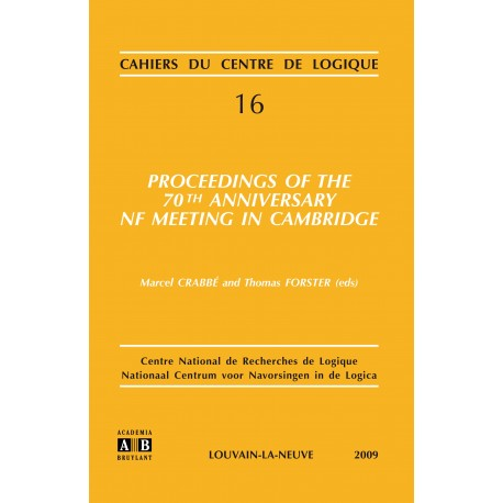 PROCEEDINGS OF THE 70TH ANNIVERSARY NF MEETING IN CAMBRIDGE Recto