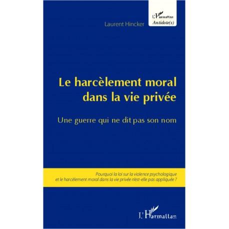 Harcèlement moral dans la vie privée Recto