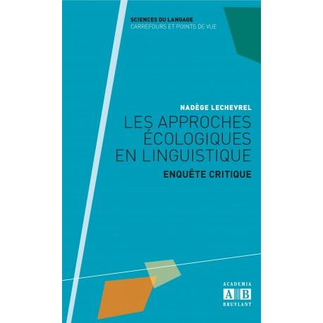 Les approches écologiques en linguistique Recto