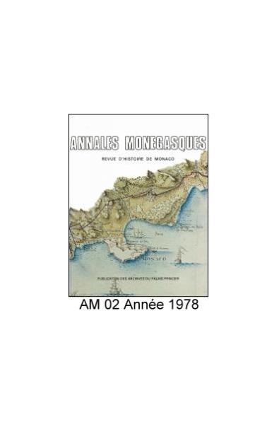 Annales Monégasques - N° 2 - 1978
