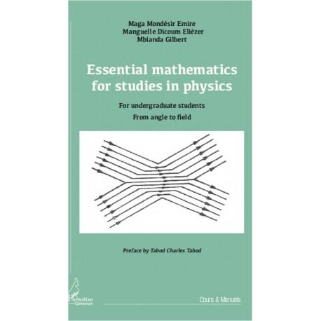 Essential mathematics for studies in physics Recto