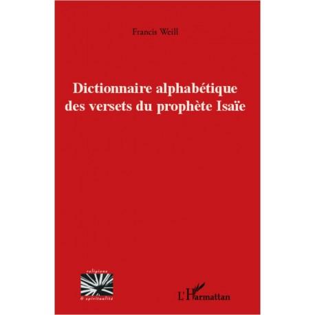 Dictionnaire alphabétique des versets du prophète Isaïe Recto