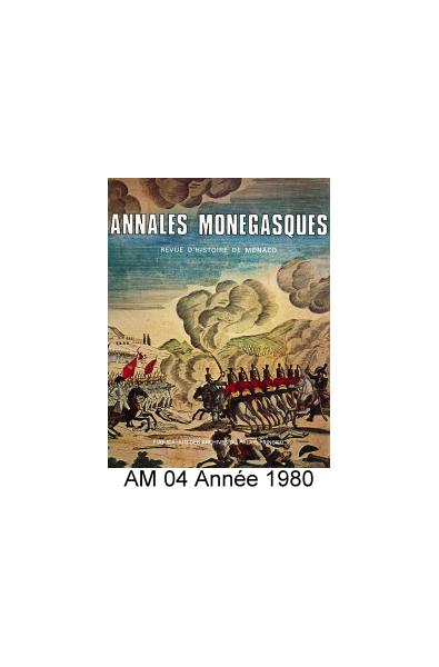 Annales Monégasques - N° 4 - 1980