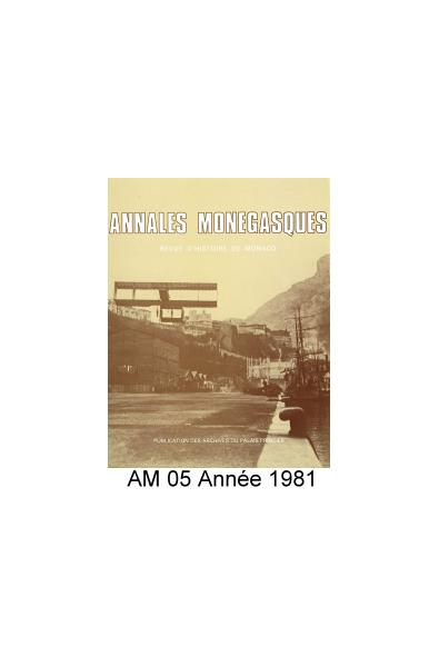Annales Monégasques - N° 5 - 1981