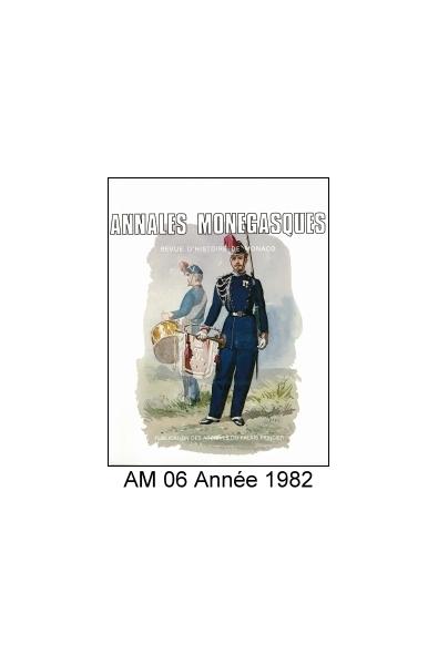 Annales Monégasques - N° 6 - 1982