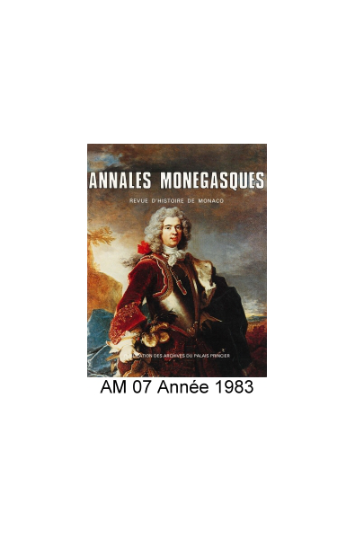 Annales Monégasques - N° 7 - 1983
