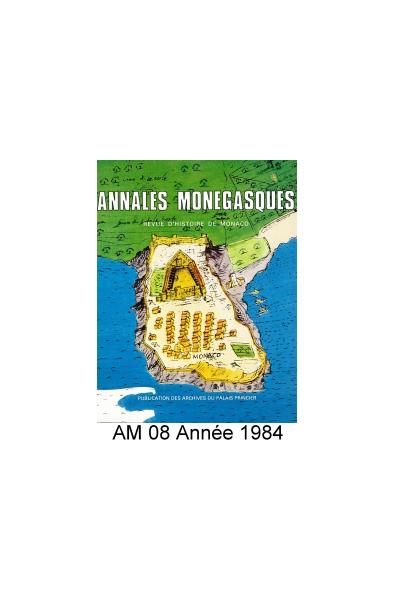 Annales Monégasques - N° 8 - 1984