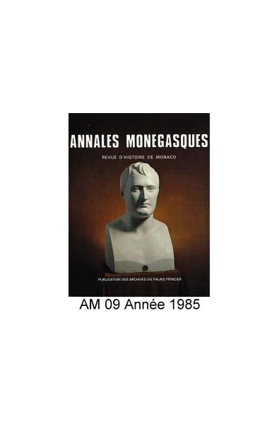 Annales Monégasques - N° 9 - 1985