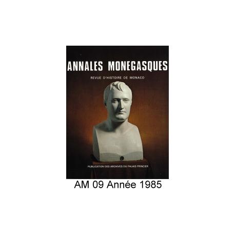 Annales Monégasques - N° 9 - 1985 Recto