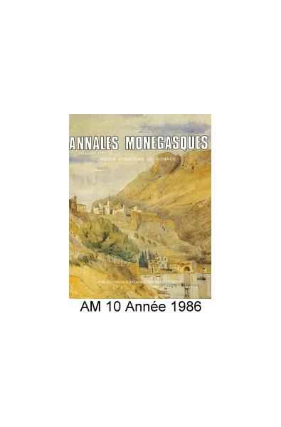 Annales Monégasques - N° 10 - 1986