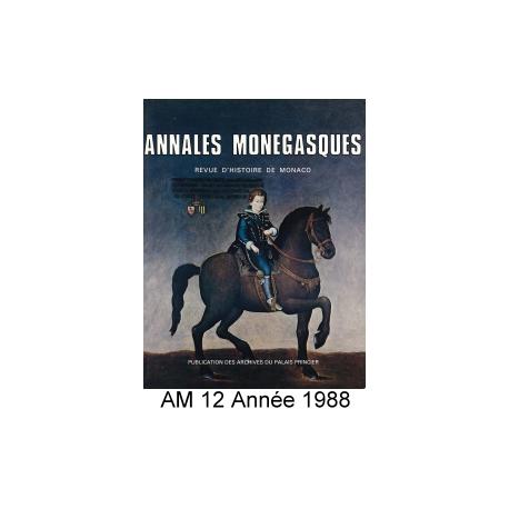 Annales Monégasques - N° 12 - 1988 Recto