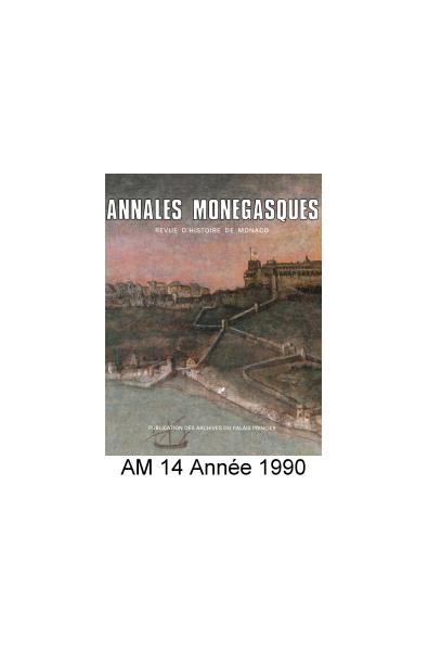 Annales Monégasques - N° 14 - 1990