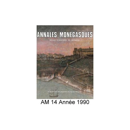 Annales Monégasques - N° 14 - 1990 Recto