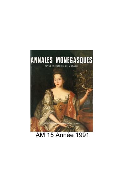 Annales Monégasques - N° 15 - 1991
