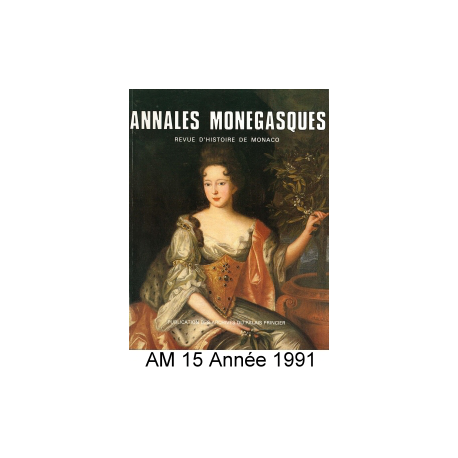 Annales Monégasques - N° 15 - 1991 Recto