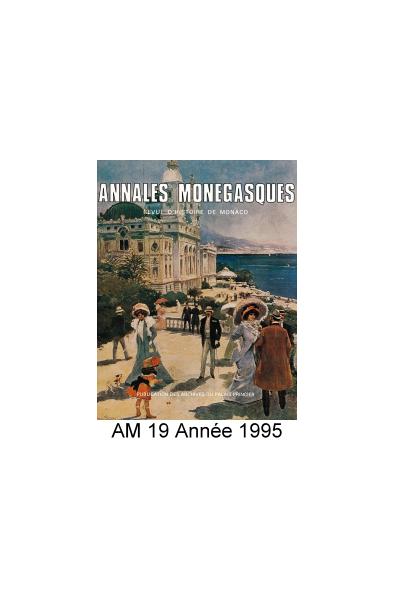 Annales Monégasques - N° 19 - 1995