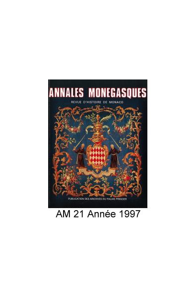 Annales Monégasques - N° 21 - 1997