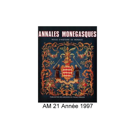 Annales Monégasques - N° 21 - 1997 Recto