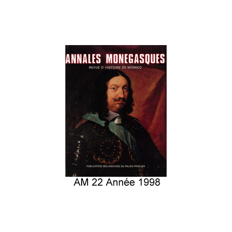 Annales Monégasques - N° 22 - 1998 Recto