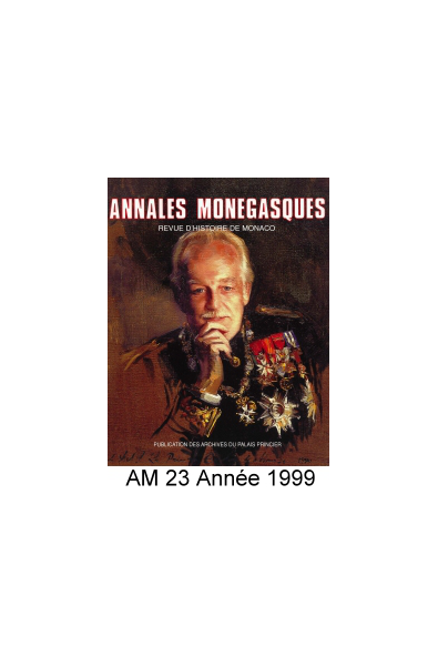 Annales Monégasques - N° 23 - 1999