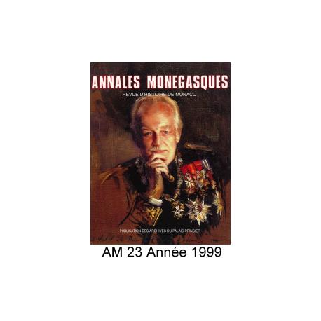Annales Monégasques - N° 23 - 1999 Recto