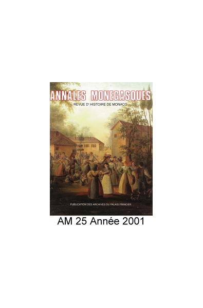 Annales Monégasques - N° 25 - 2001
