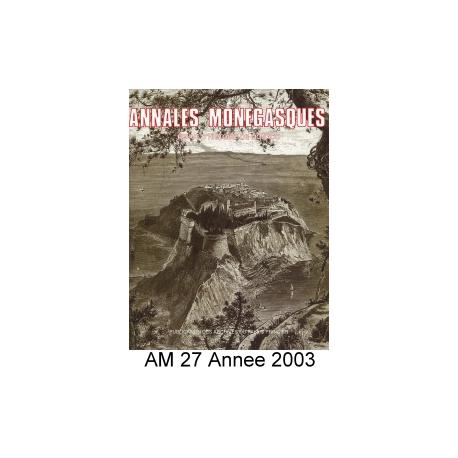 Annales Monégasques - N° 27 - 2003