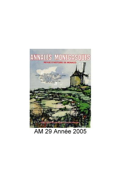 Annales Monégasques - N° 29 - 2005