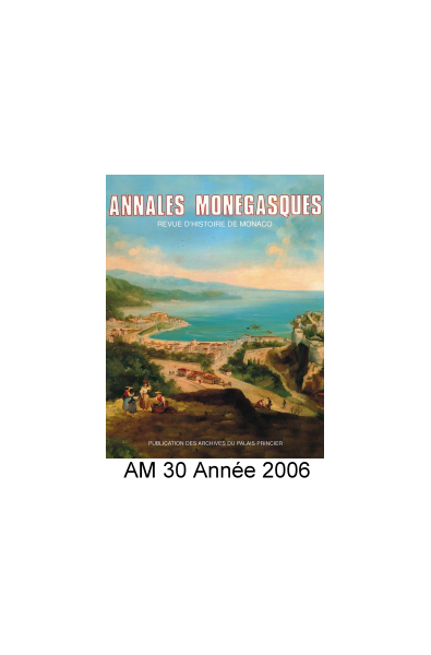 Annales Monégasques - N° 30 - 2006
