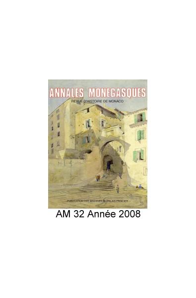 Annales Monégasques - N° 32 - 2008