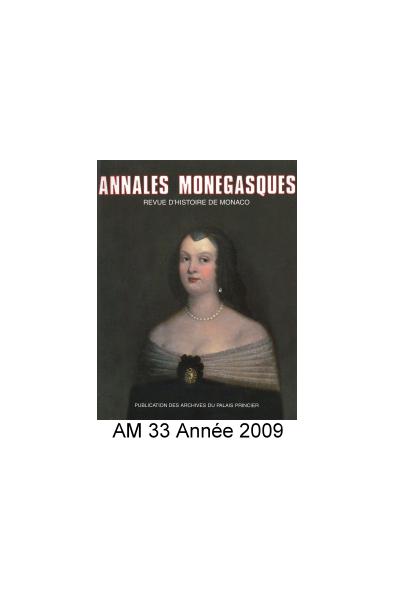 Annales Monégasques - N° 33 - 2009