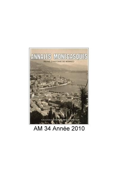 Annales Monégasques - N° 34 - 2010