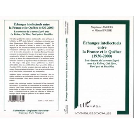 Echanges intellectuels entre la France et le Québec (1930-2000) Recto