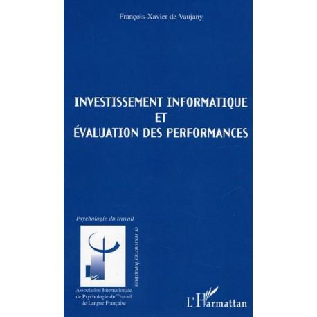 Investissements informatique et évaluation des performances Recto