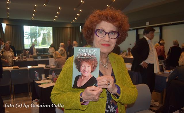 Portrait d'Andréa Ferreol lors du 6e salon du livre de Monaco.