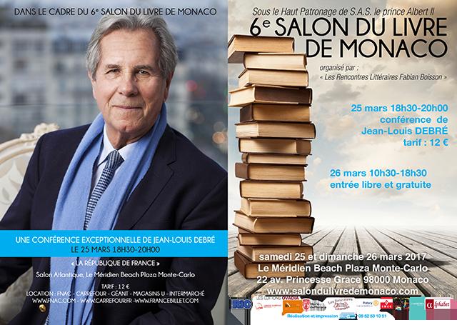 Affiche de la 6e édition du salon du livre de Monaco
