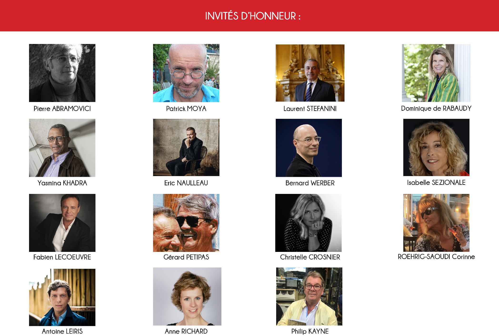 Invités d'honneur du salon du livre de Monaco.